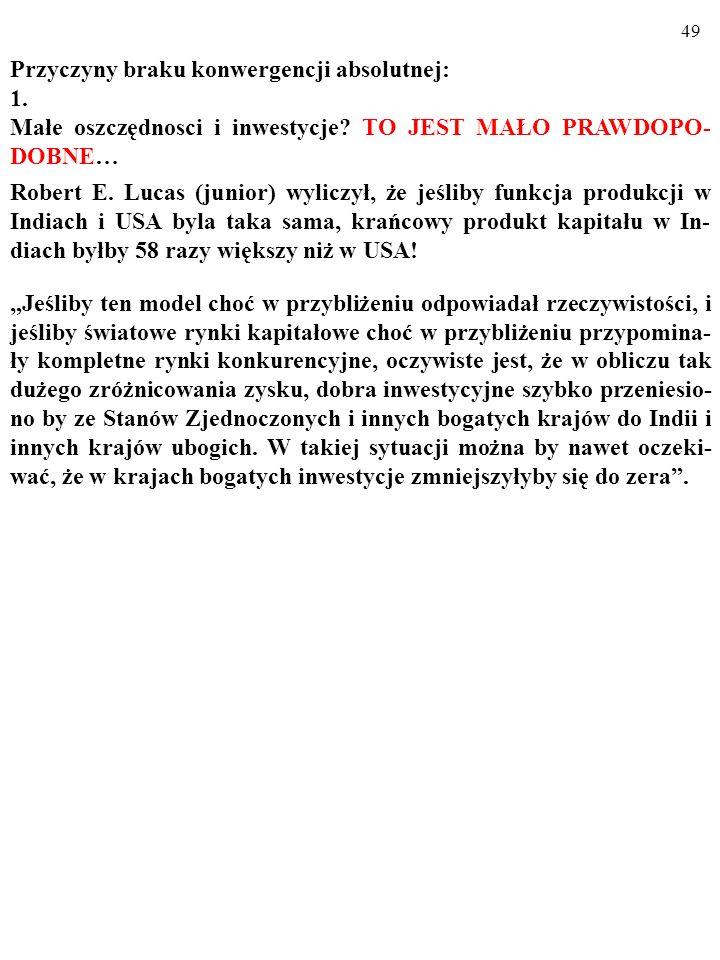 48 Kraje o RÓŻNEJ skłonności do oszczędzania (np. s i s'; zob.