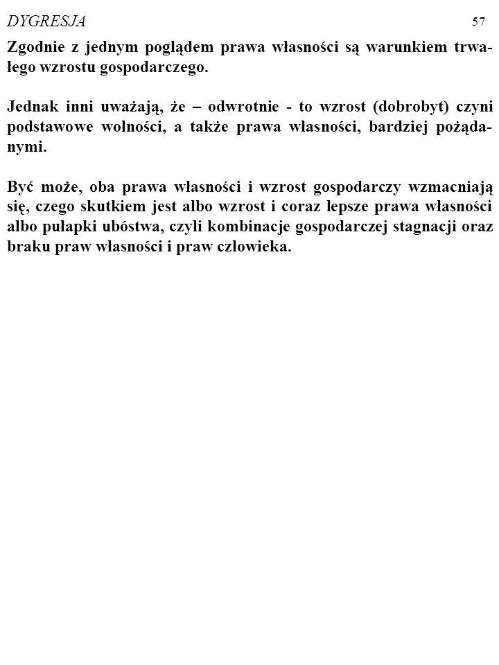 56 Prawa własności obejmują m. in. PRAWA CZŁOWIEKA (ang.