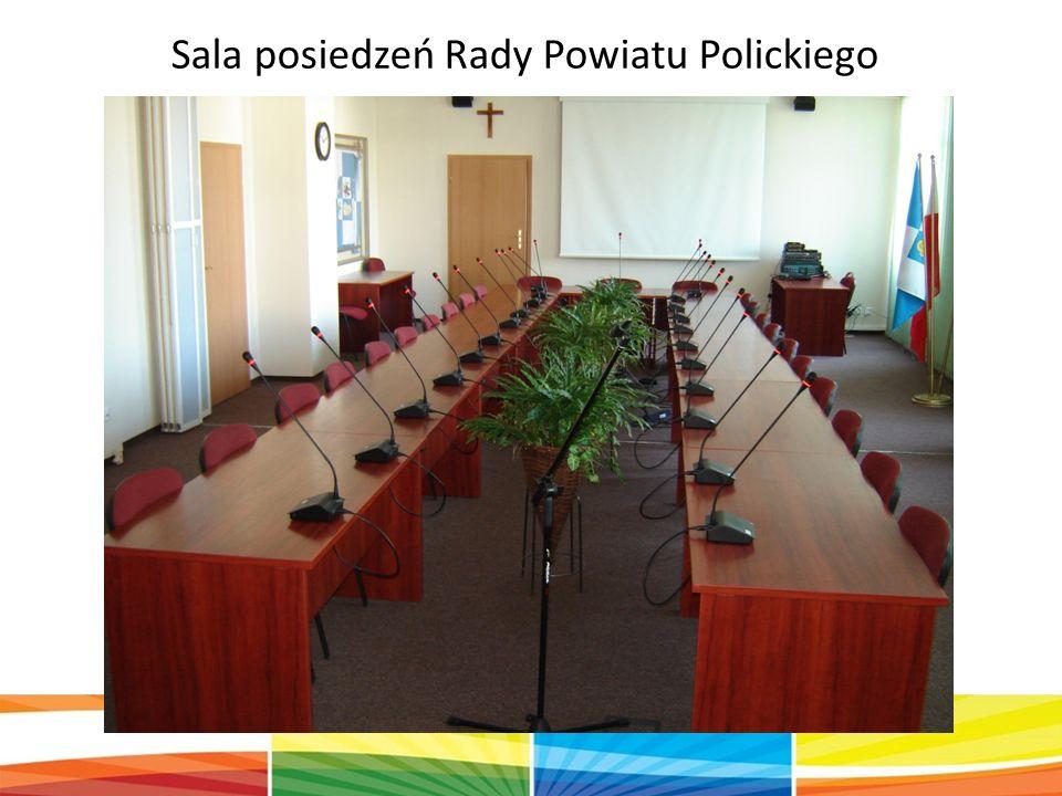Sala posiedzeń Rady Powiatu Polickiego