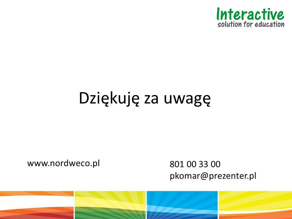Dziękuję za uwagę www.nordweco.pl 801 00 33 00 pkomar@prezenter.pl