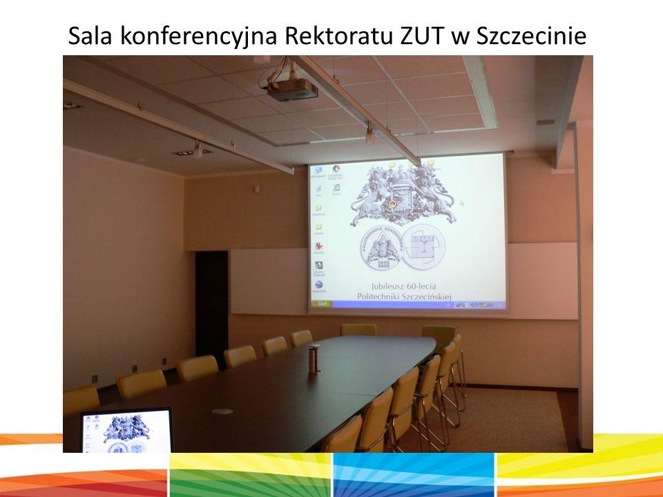 Sala konferencyjna Rektoratu ZUT w Szczecinie
