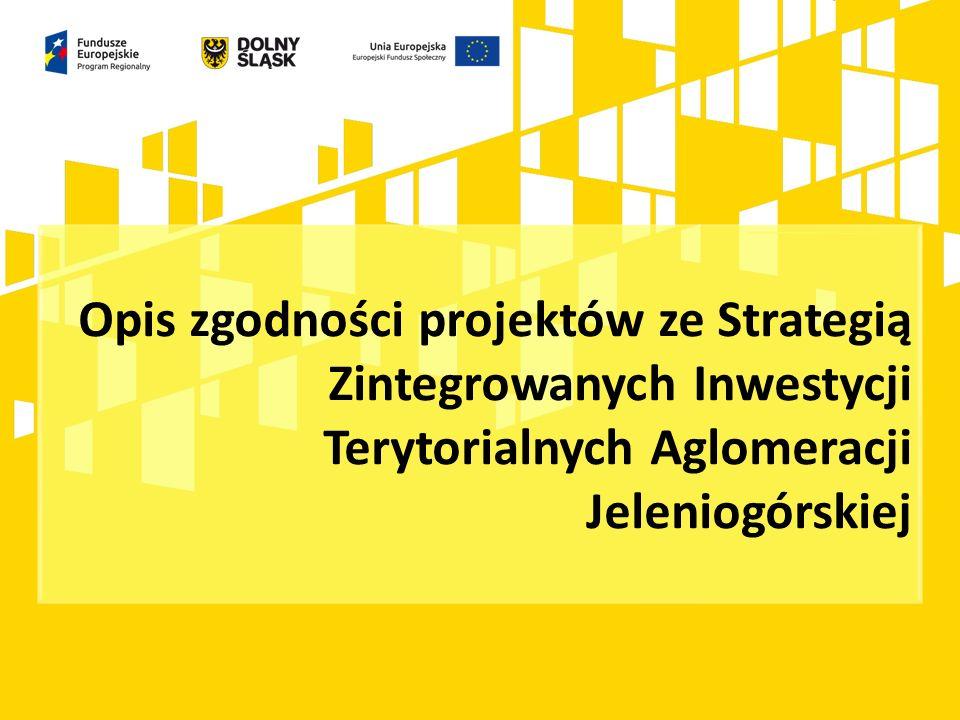 Opis zgodności projektów ze Strategią Zintegrowanych Inwestycji Terytorialnych Aglomeracji Jeleniogórskiej
