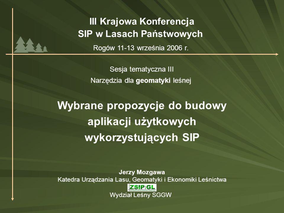 III Krajowa Konferencja SIP w Lasach Państwowych Rogów 11-13 września 2006 r.