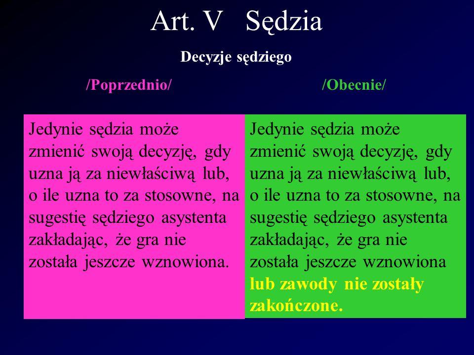Art.XI Spalony Nowe Rozstrzygnięcie 1 International F.A.