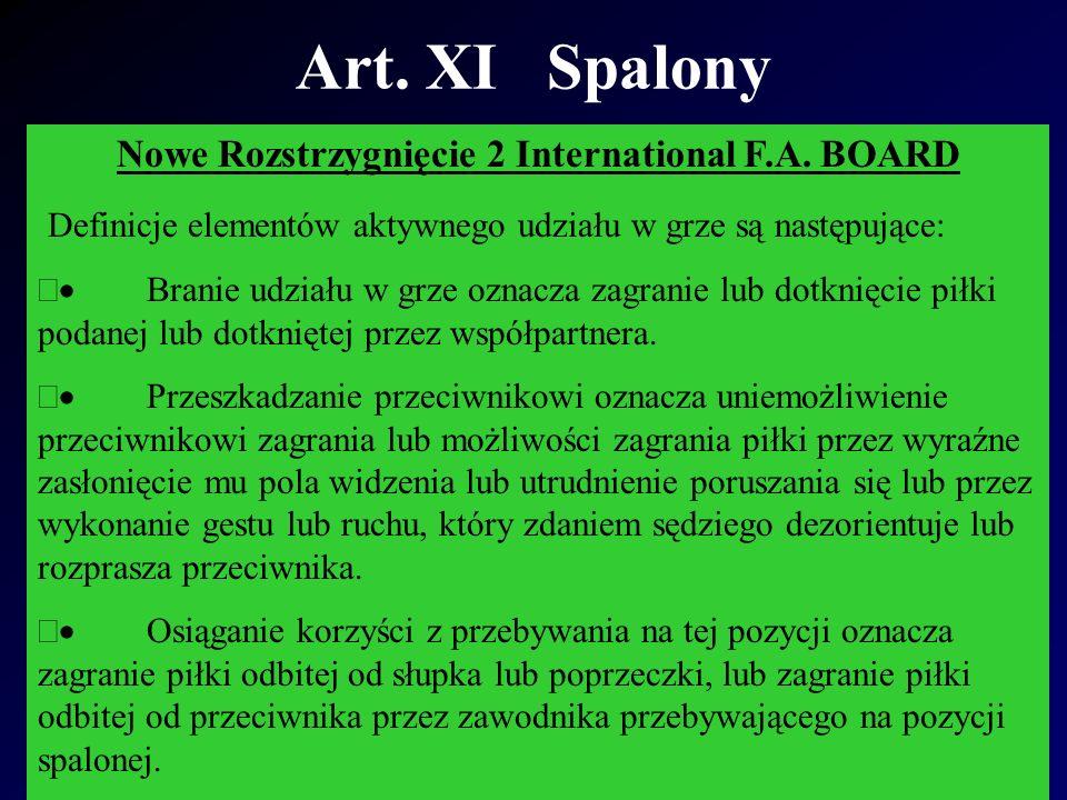 Art. XI Spalony Nowe Rozstrzygnięcie 2 International F.A.