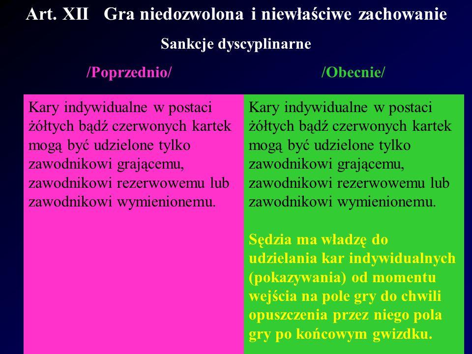 Art.XII Gra niedozwolona i niewłaściwe zachowanie Rozstrzygnięcie 4 International F.