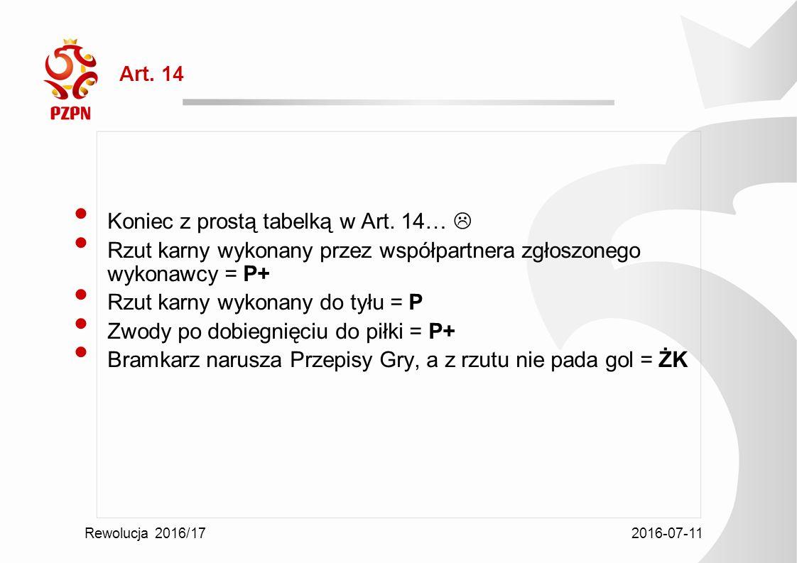 2016-07-11 Rewolucja 2016/17 Art. 14 Koniec z prostą tabelką w Art.