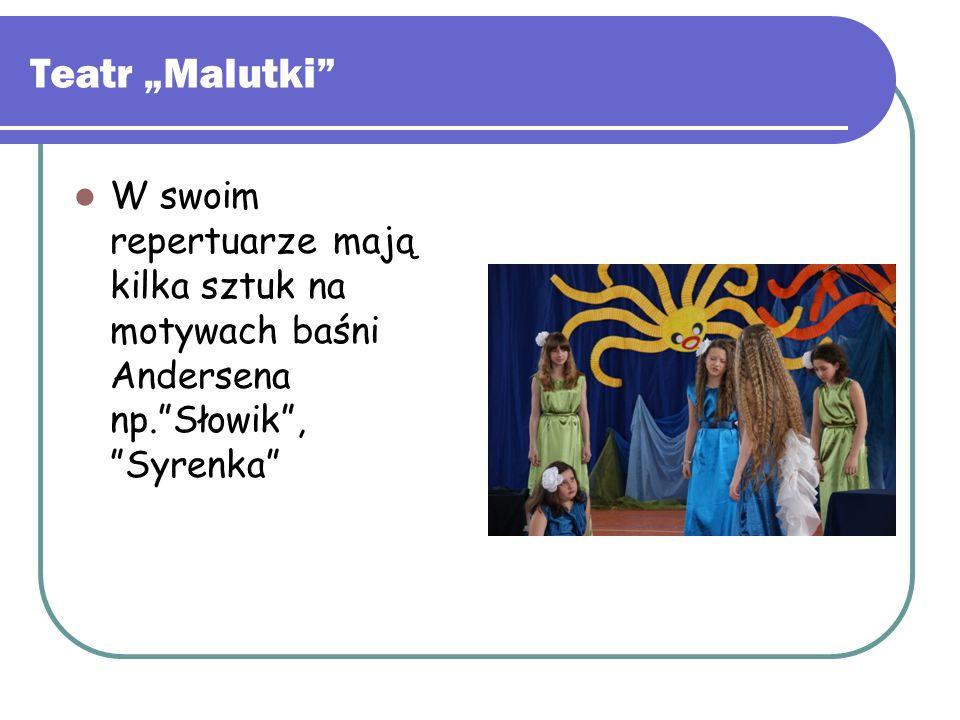 """Teatr """"Malutki"""" W swoim repertuarze mają kilka sztuk na motywach baśni Andersena np.""""Słowik"""", """"Syrenka"""""""