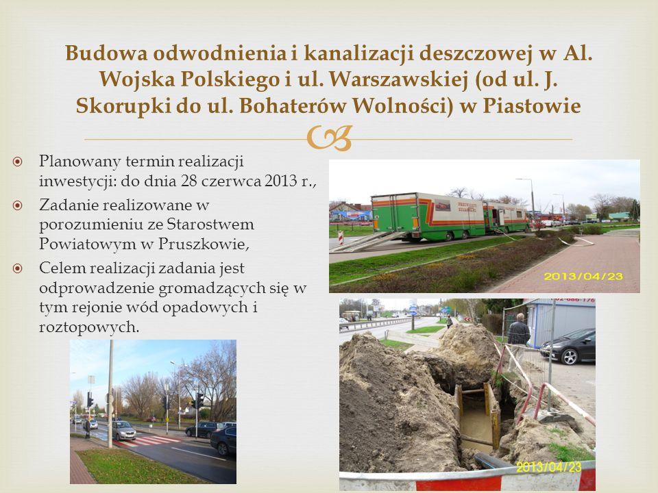  Budowa odwodnienia i kanalizacji deszczowej w Al.