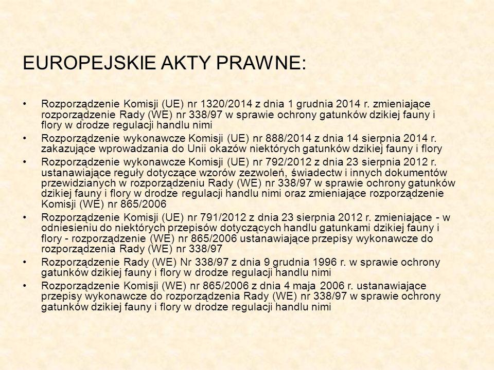 EUROPEJSKIE AKTY PRAWNE: Rozporządzenie Komisji (UE) nr 1320/2014 z dnia 1 grudnia 2014 r.