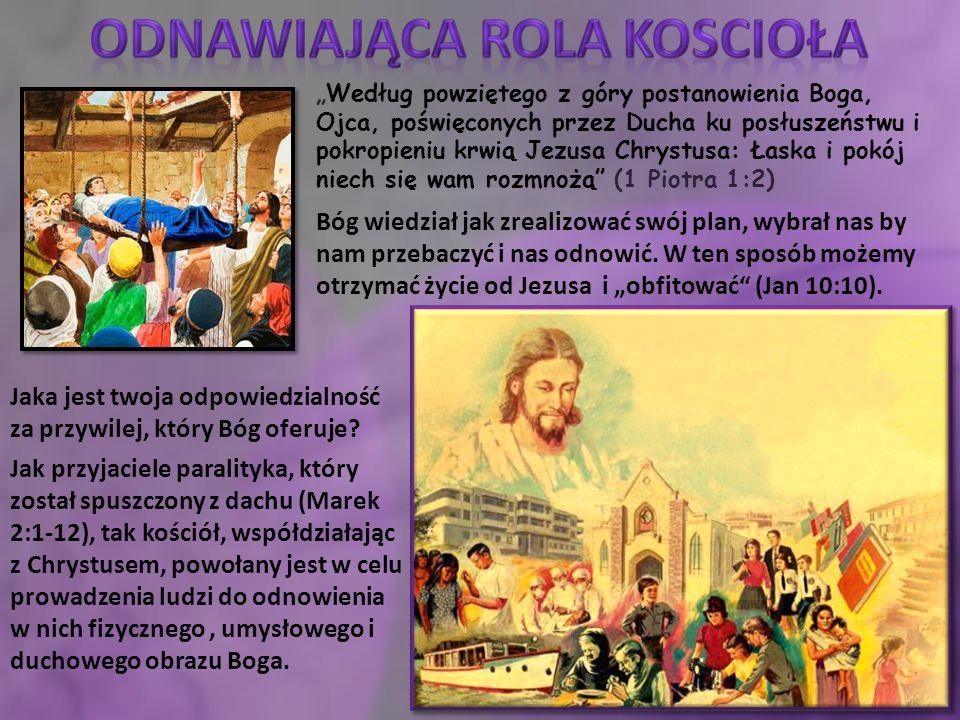 """""""Według powziętego z góry postanowienia Boga, Ojca, poświęconych przez Ducha ku posłuszeństwu i pokropieniu krwią Jezusa Chrystusa: Łaska i pokój niech się wam rozmnożą (1 Piotra 1:2) Jaka jest twoja odpowiedzialność za przywilej, który Bóg oferuje."""