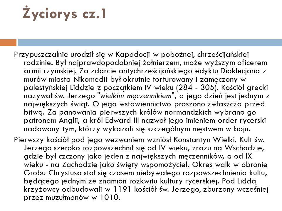 Życiorys cz.1 Przypuszczalnie urodził się w Kapadocji w pobożnej, chrześcijańskiej rodzinie. Był najprawdopodobniej żołnierzem, może wyższym oficerem