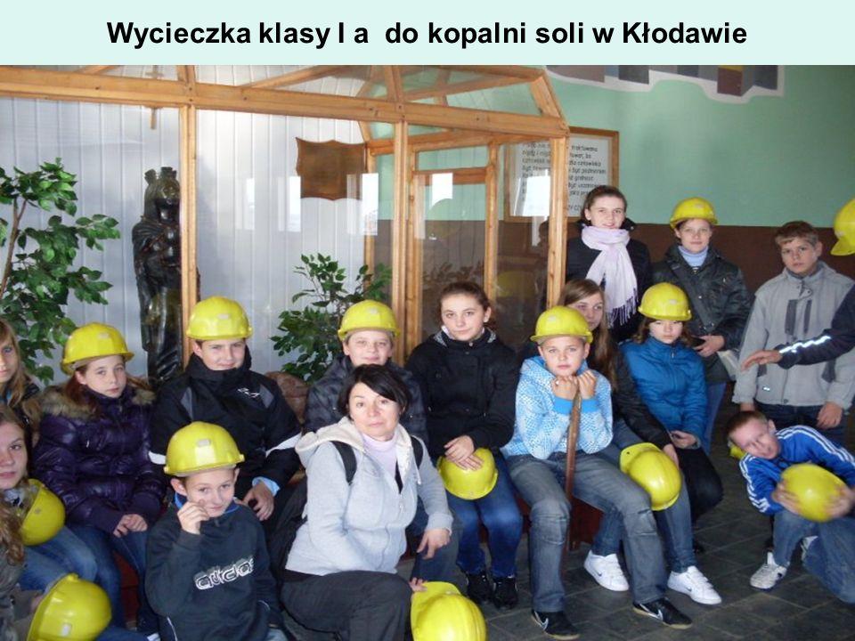 Wycieczka klasy I a do kopalni soli w Kłodawie