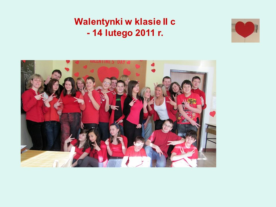 Walentynki w klasie II c - 14 lutego 2011 r.