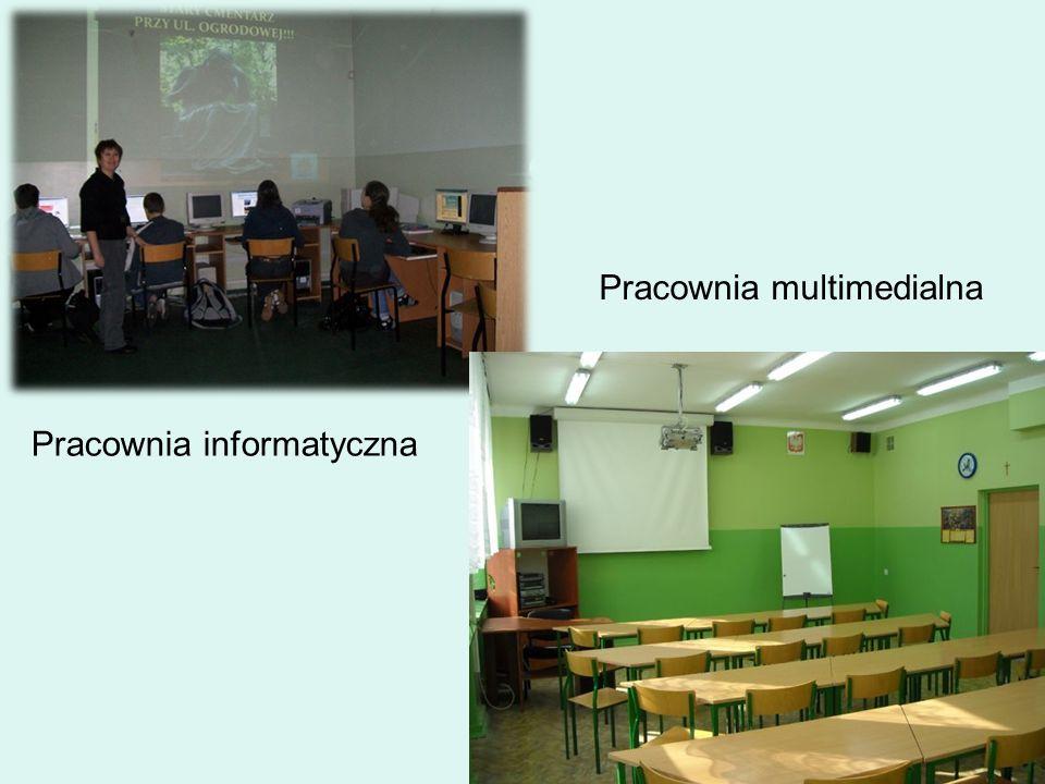 Pracownia informatyczna Pracownia multimedialna