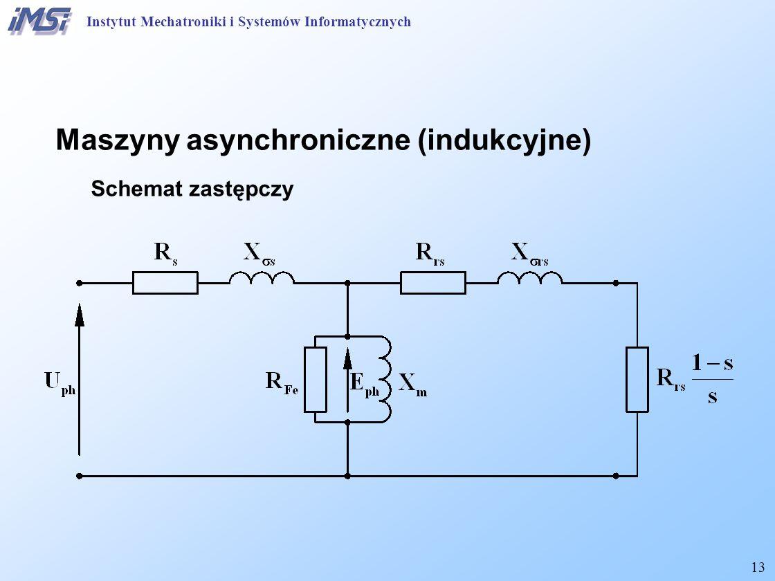 13 Maszyny asynchroniczne (indukcyjne) Schemat zastępczy Instytut Mechatroniki i Systemów Informatycznych