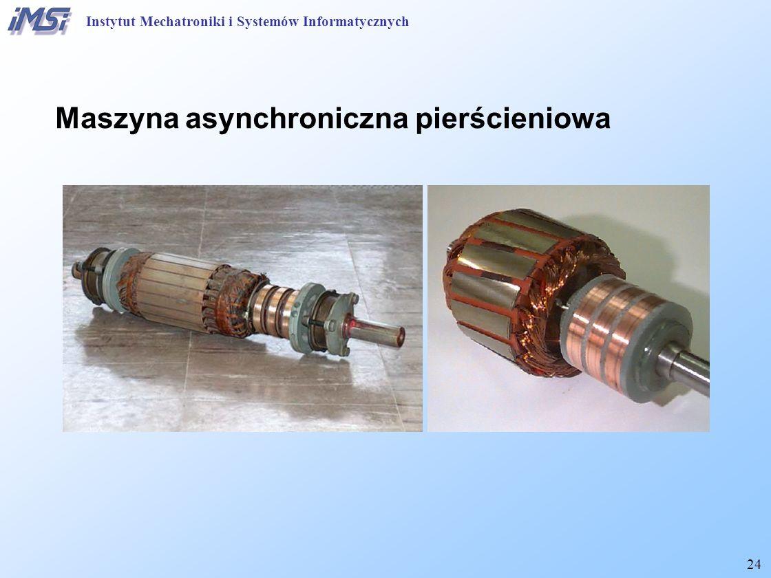 24 Maszyna asynchroniczna pierścieniowa Instytut Mechatroniki i Systemów Informatycznych