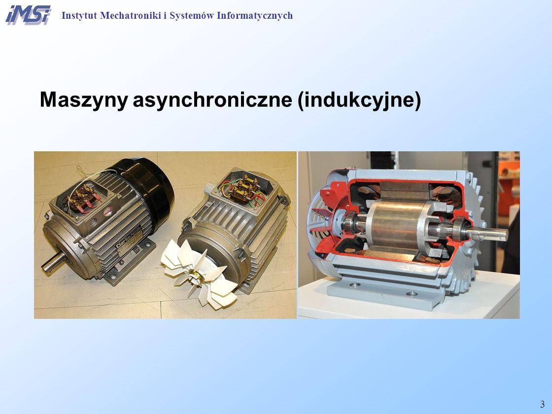 34 Maszyny asynchroniczne (indukcyjne) Modyfikacja charakterystyk wyjściowych Stały stosunek napięcia i częstotliwości – stała B m Instytut Mechatroniki i Systemów Informatycznych