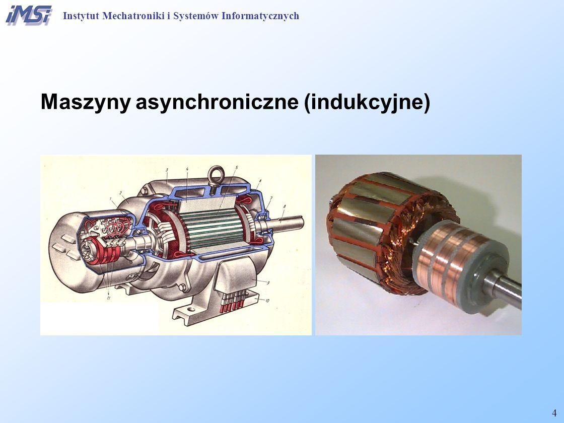 45 Institute of Mechatronics and Information Systems Silnik asynchroniczny ze zwojem zwartym Wzbudzanie strumienia wirującego