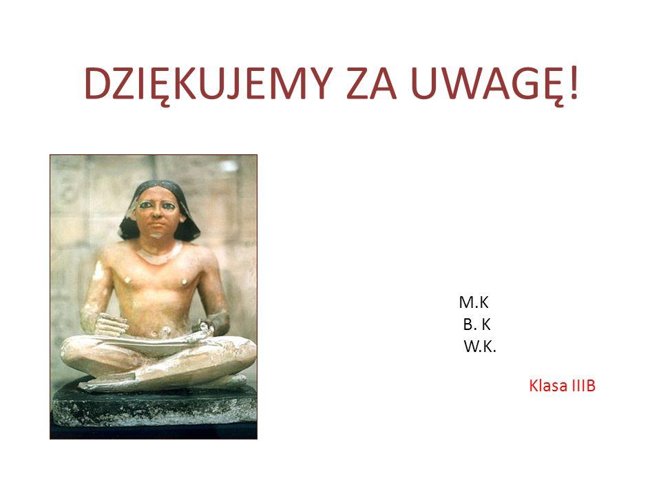 DZIĘKUJEMY ZA UWAGĘ! M.K B. K W.K. Klasa IIIB