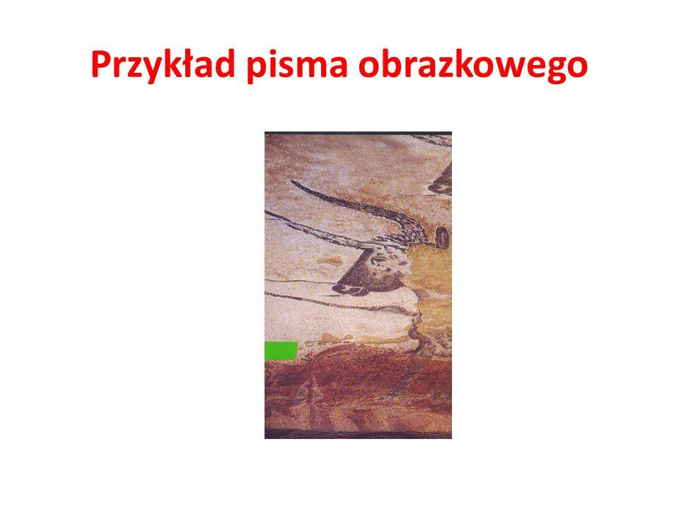 Przykład pisma obrazkowego