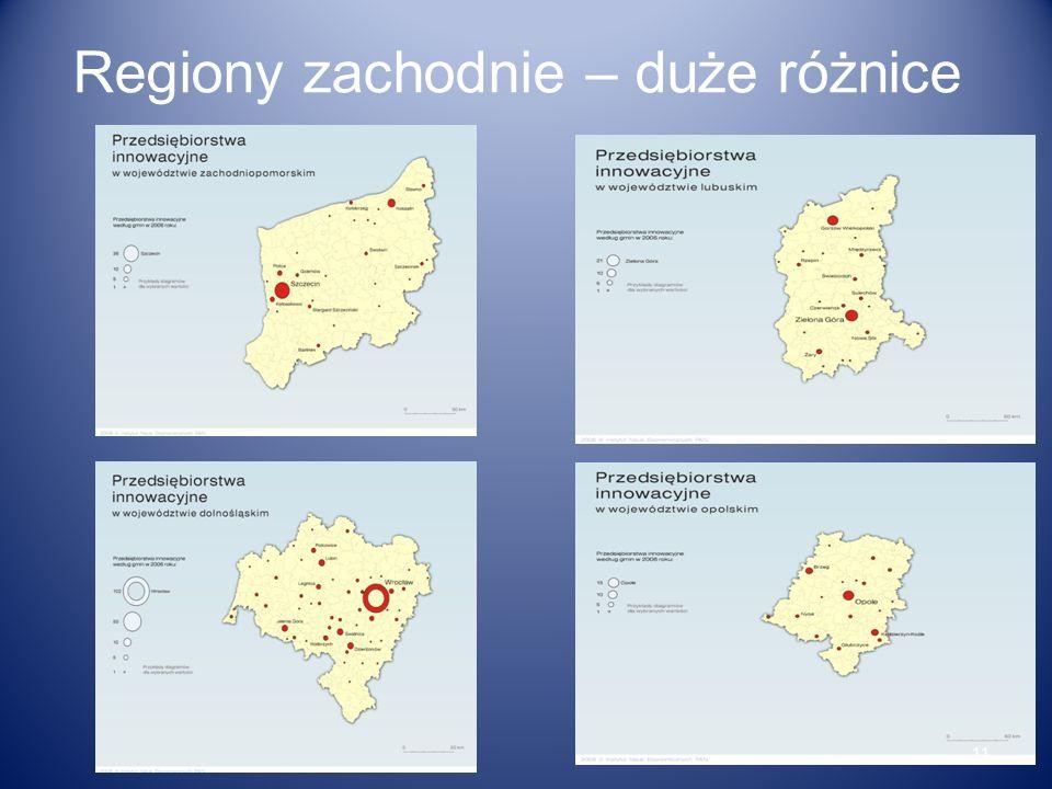 Regiony zachodnie – duże różnice 11