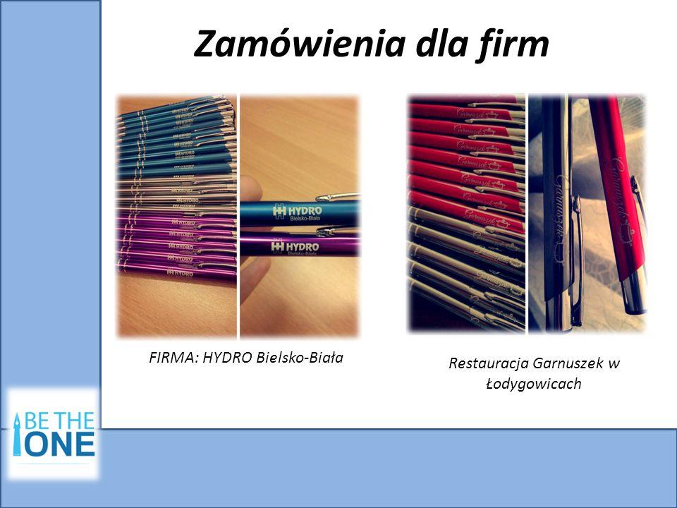 Zamówienia dla firm FIRMA: HYDRO Bielsko-Biała Restauracja Garnuszek w Łodygowicach