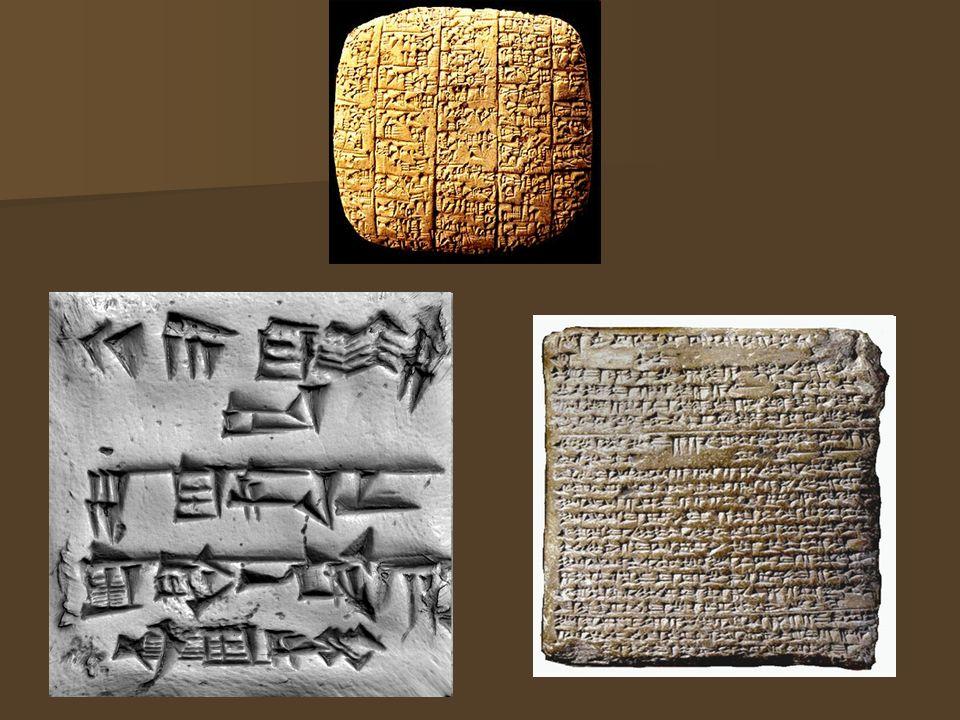 Dzieje pisma klinowego W postępie duchowym człowieka - czy ogólniej, w rozwoju cywilizacji - początki i rozwój pisma zajmują miejsce o znaczeniu pierwszorzędnym, ustępując doniosłością jedynie początkom mowy, mowa i pismo są bowiem zasadniczymi środkami porozumiewania się w obrębie społeczności ludzkiej W postępie duchowym człowieka - czy ogólniej, w rozwoju cywilizacji - początki i rozwój pisma zajmują miejsce o znaczeniu pierwszorzędnym, ustępując doniosłością jedynie początkom mowy, mowa i pismo są bowiem zasadniczymi środkami porozumiewania się w obrębie społeczności ludzkiej Pismo klinowe zaliczane jest do jednego z najstarszych systemów pisma, wyróżnia się tym, że jego znaki zbudowane są z połączonych kresek w kształcie klinów, stożków lub ćwieków.