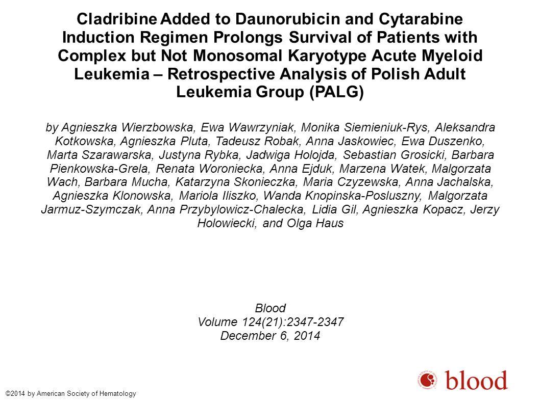 Agnieszka Wierzbowska et al. Blood 2014;124:2347 ©2014 by American Society of Hematology