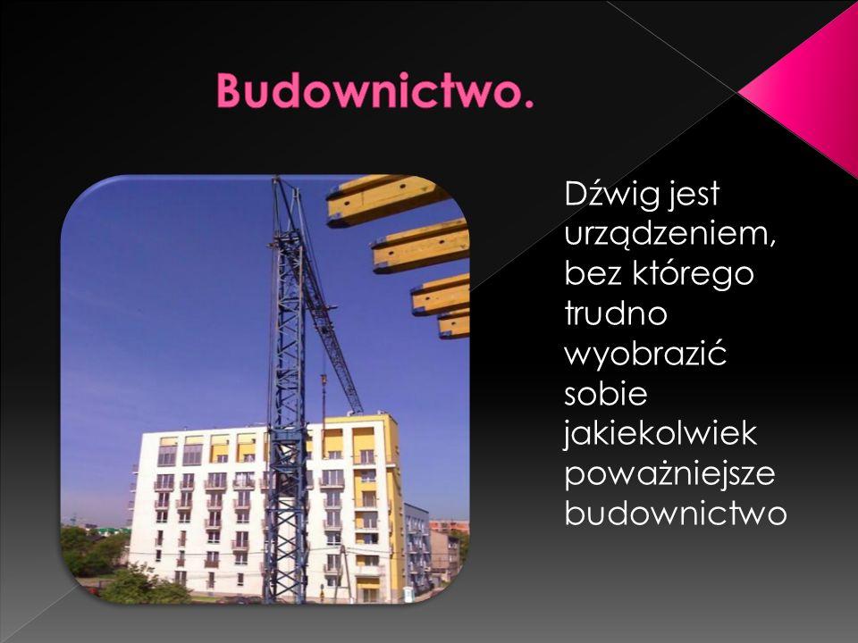 Dźwig jest urządzeniem, bez którego trudno wyobrazić sobie jakiekolwiek poważniejsze budownictwo