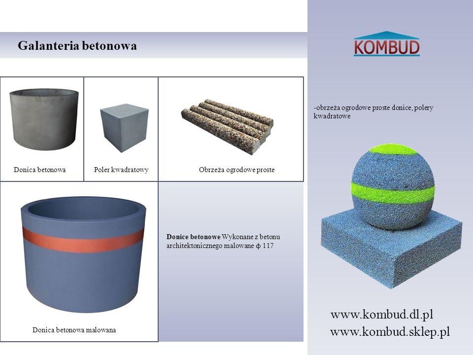 -obrzeża ogrodowe proste donice, polery kwadratowe Galanteria betonowa Donice betonowe Wykonane z betonu architektonicznego malowane ϕ 117 Donica beto