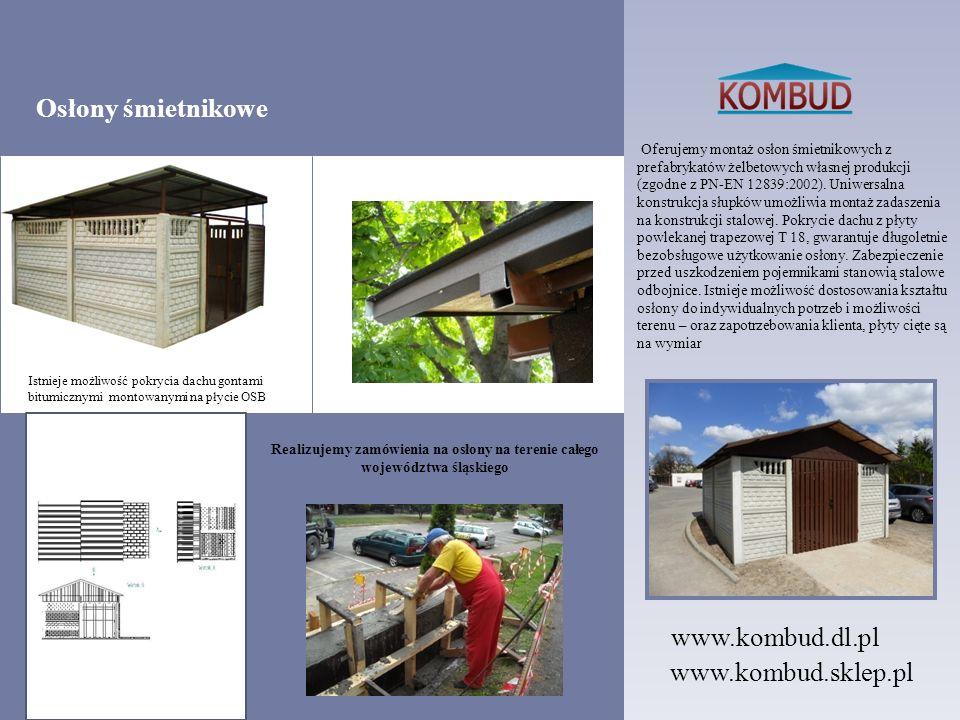 Oferujemy montaż osłon śmietnikowych z prefabrykatów żelbetowych własnej produkcji (zgodne z PN-EN 12839:2002). Uniwersalna konstrukcja słupków umożli