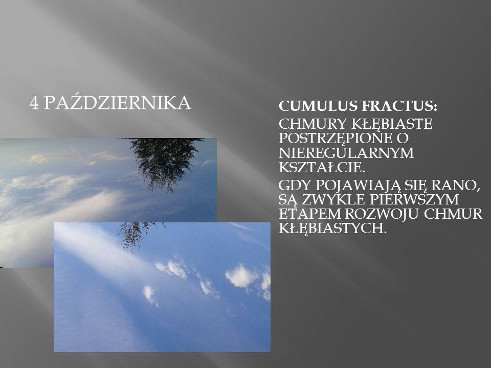 6 PAŹDZIERNIK  chmura pierzasto- warstwowa (cirrostratu s