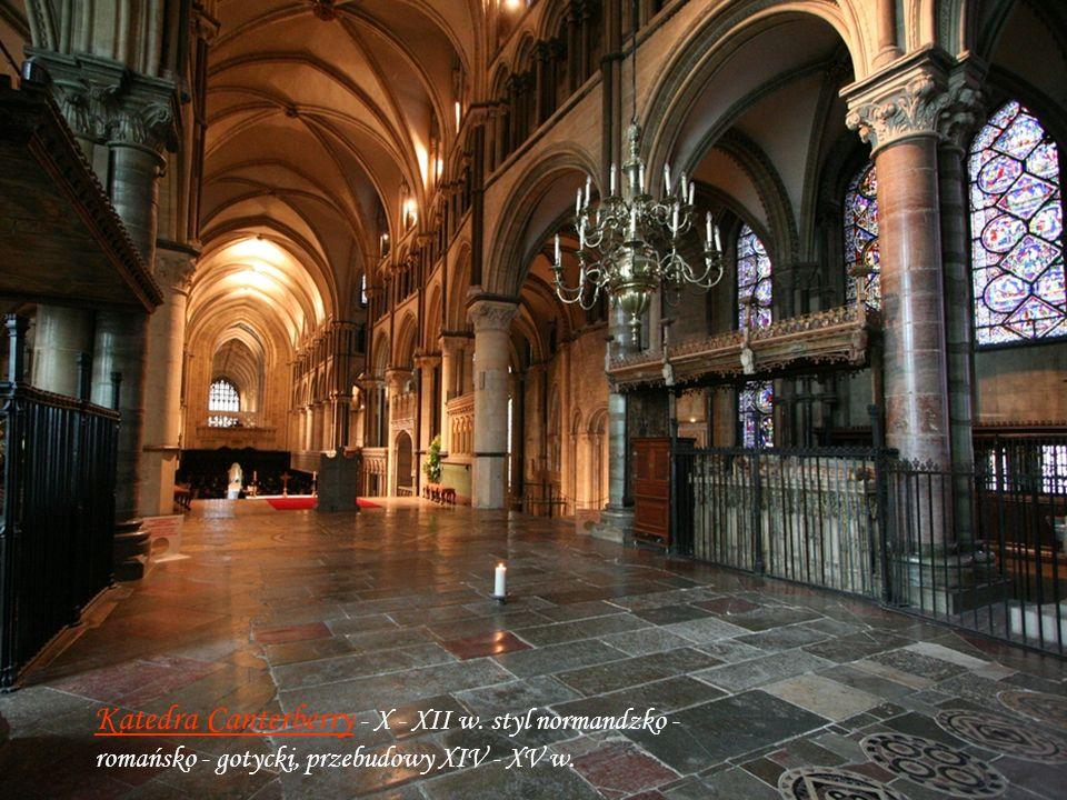 Grobowiec Elżbiety I Opactwo Westminster – wybudowane w VIII – XII w, romańsko-gotyckie z późniejszymi przebudowami. Nekropolia Królów i miejsce ich k