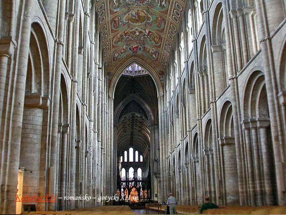 Katedra Canterberry - X - XII w. styl normandzko - romańsko - gotycki, przebudowy XIV - XV w.