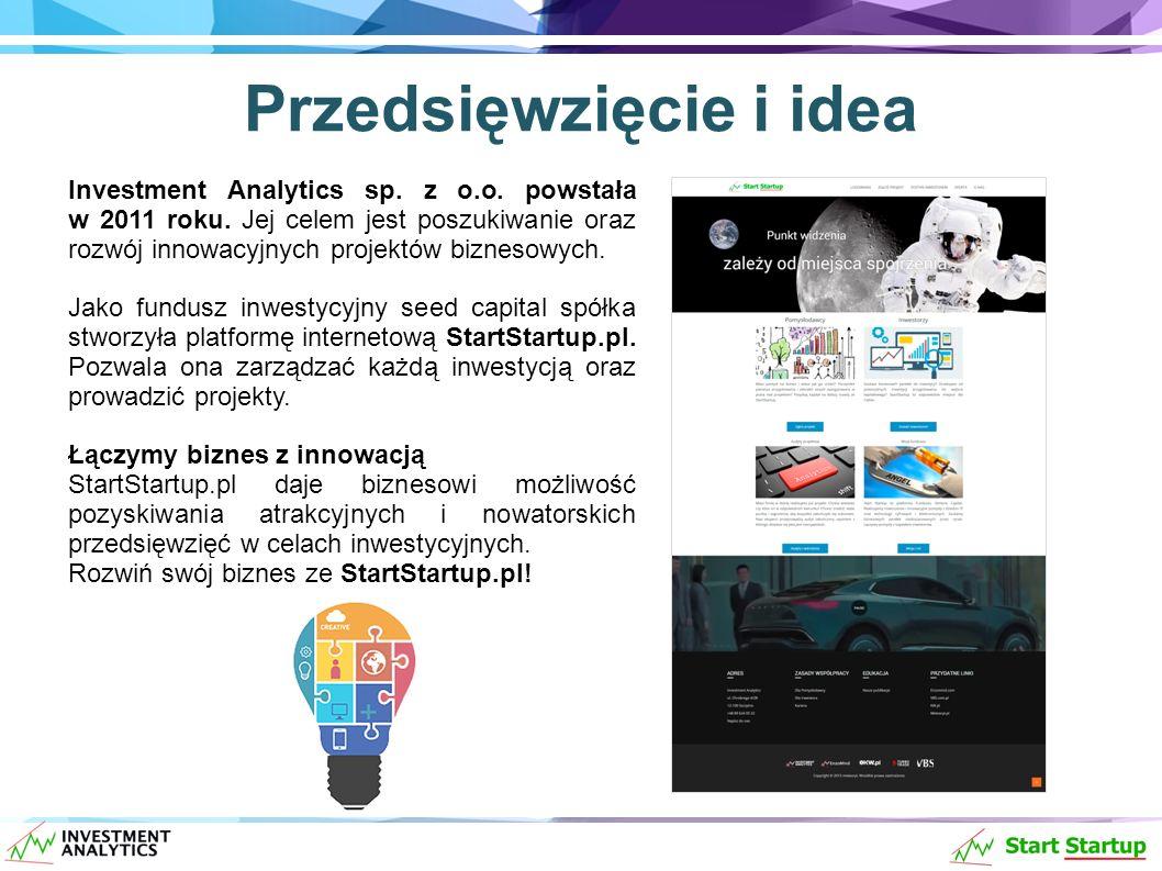 Przedsięwzięcie i idea Investment Analytics sp. z o.o.