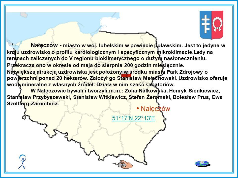 Nałęczów Nałęczów - miasto w woj.lubelskim w powiecie puławskim.