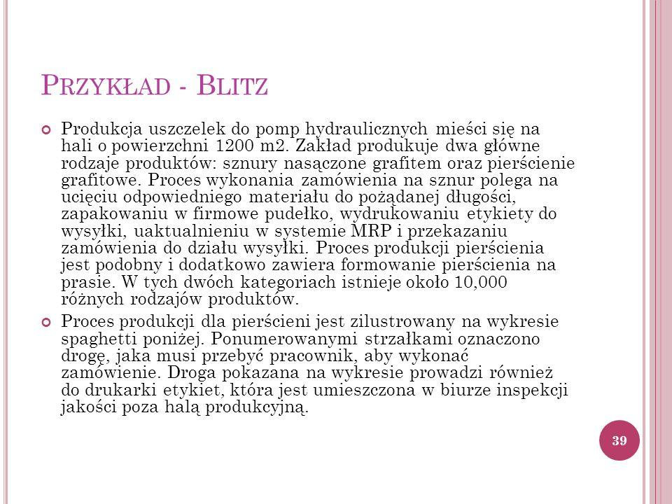 P RZYKŁAD - B LITZ Produkcja uszczelek do pomp hydraulicznych mieści się na hali o powierzchni 1200 m2.