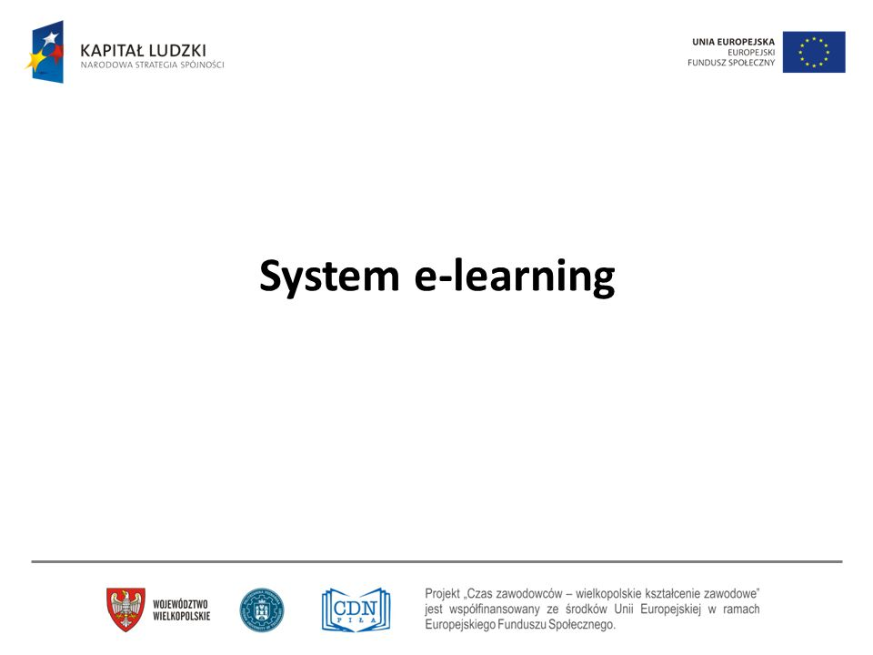 System e-learning