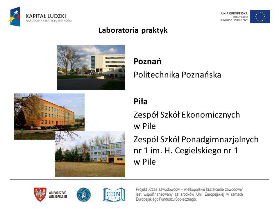 Poznań Politechnika Poznańska Piła Zespół Szkół Ekonomicznych w Pile Zespół Szkół Ponadgimnazjalnych nr 1 im. H. Cegielskiego nr 1 w Pile