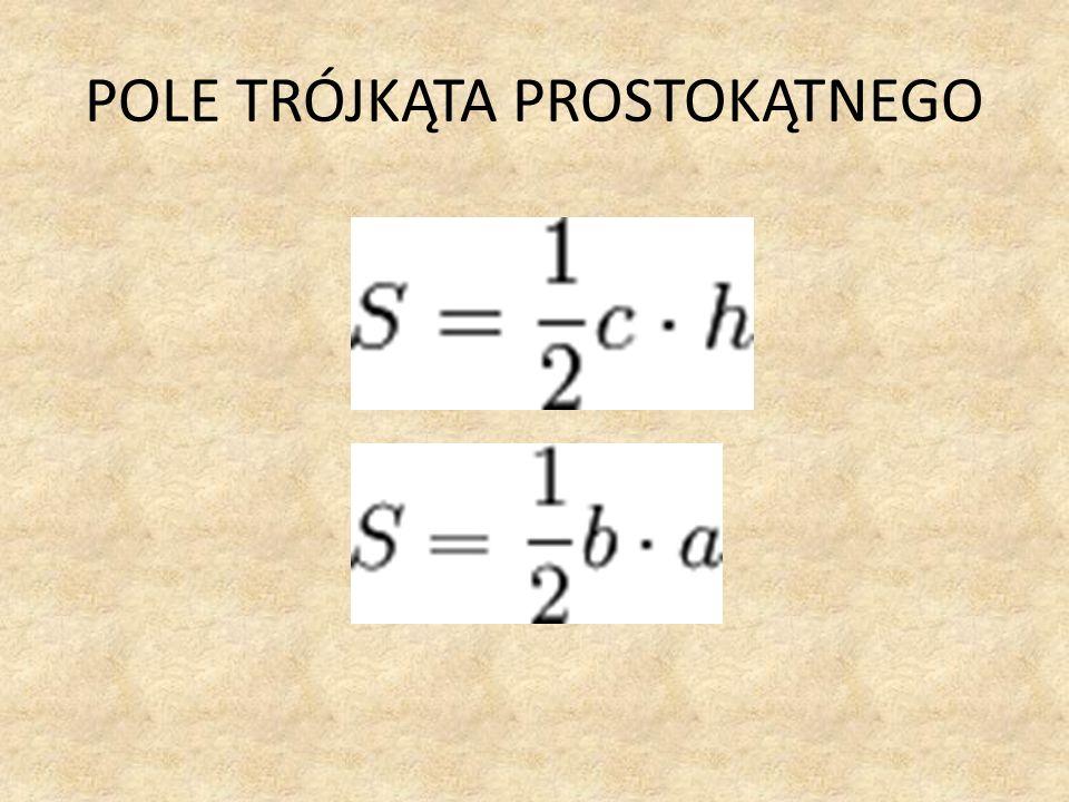 Zależności w trójkącie prostokątnym