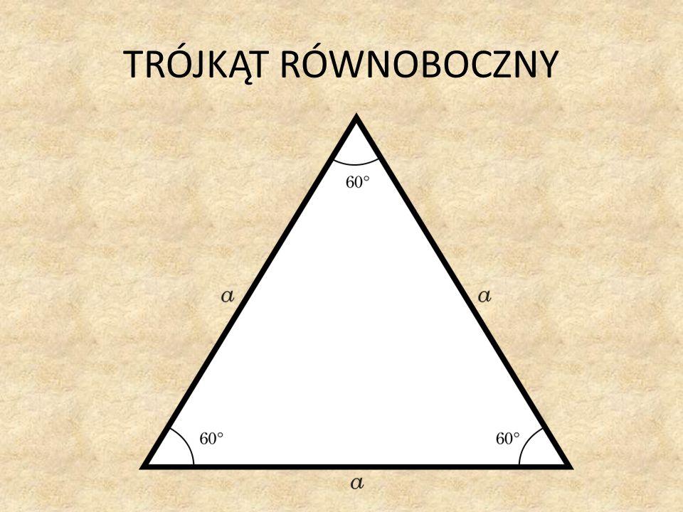 Trójkąt równoboczny to trójkąt, którego wszystkie boki mają tę samą długość.