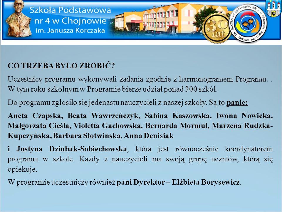 DZIAŁANIA PANI Justyny Dziubak-Sobiechowskiej Zadanie 4 Temat: Układ współrzędnych Odbiorcy to uczniowie klasy 4a na zajęciach koła matematycznego.