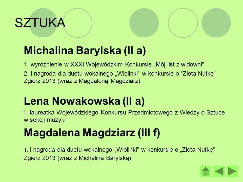 III miejsce w powiatowych mistrzostwach piłki koszykowej dziewcząt – Gimnazjada Kinga Asiedu, Wardęcka Agata, Paulina Janicka, Politańska Monika, Jóźwik Paulina, Jóźwik Dagmara, Szczepańska Sara, Pawłowska Angelika, Duszyńska Joanna, Dylewska Martyna, Julia Galusińska, Weronika Lichy, Rusiecka Martyna, Good Anita, Olczak Weronika, Bielawska Dagmara