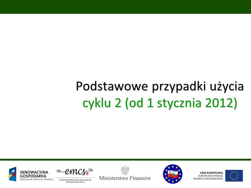 Podstawowe przypadki użycia cyklu 2 (od 1 stycznia 2012)
