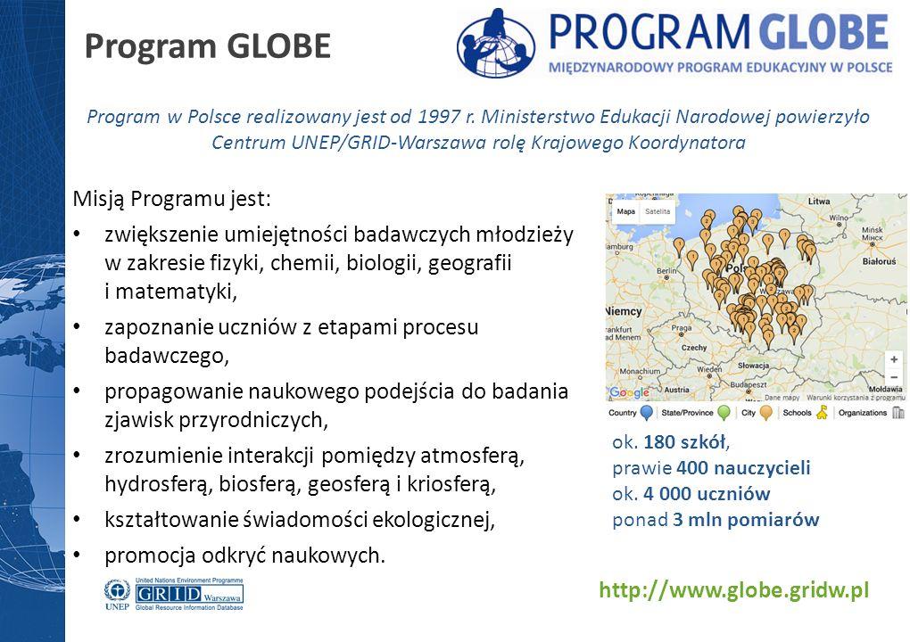 Misją Programu jest: zwiększenie umiejętności badawczych młodzieży w zakresie fizyki, chemii, biologii, geografii i matematyki, zapoznanie uczniów z etapami procesu badawczego, propagowanie naukowego podejścia do badania zjawisk przyrodniczych, zrozumienie interakcji pomiędzy atmosferą, hydrosferą, biosferą, geosferą i kriosferą, kształtowanie świadomości ekologicznej, promocja odkryć naukowych.