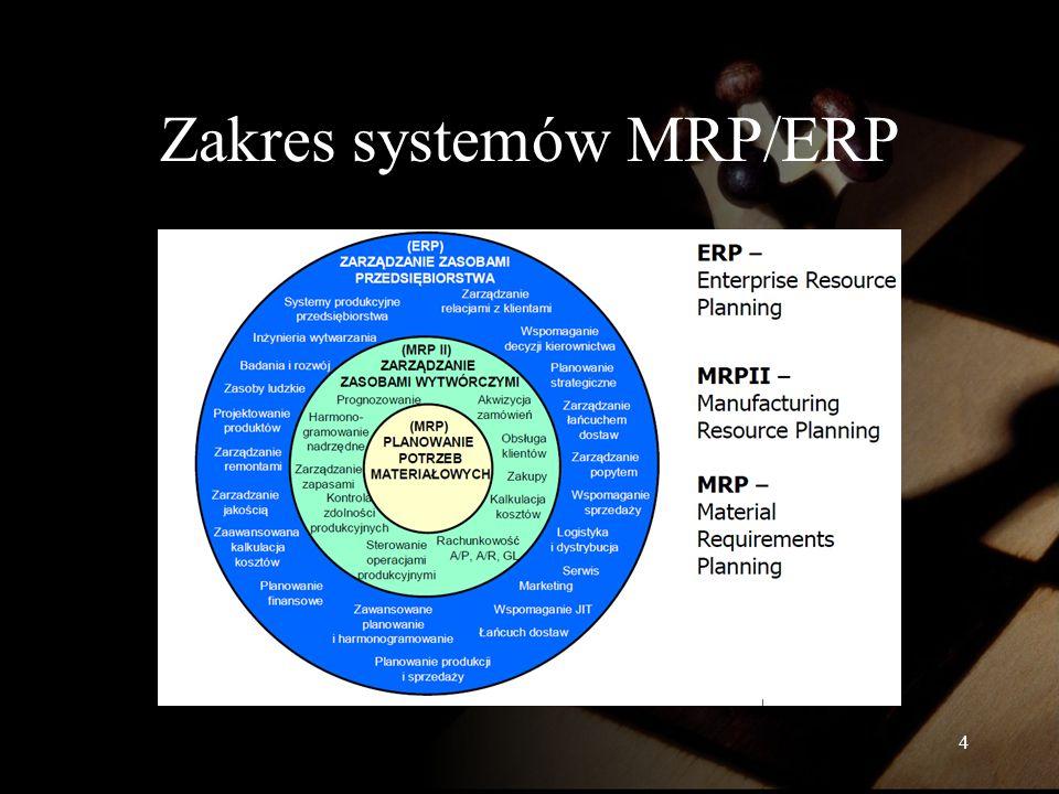 Zakres systemów MRP/ERP 4