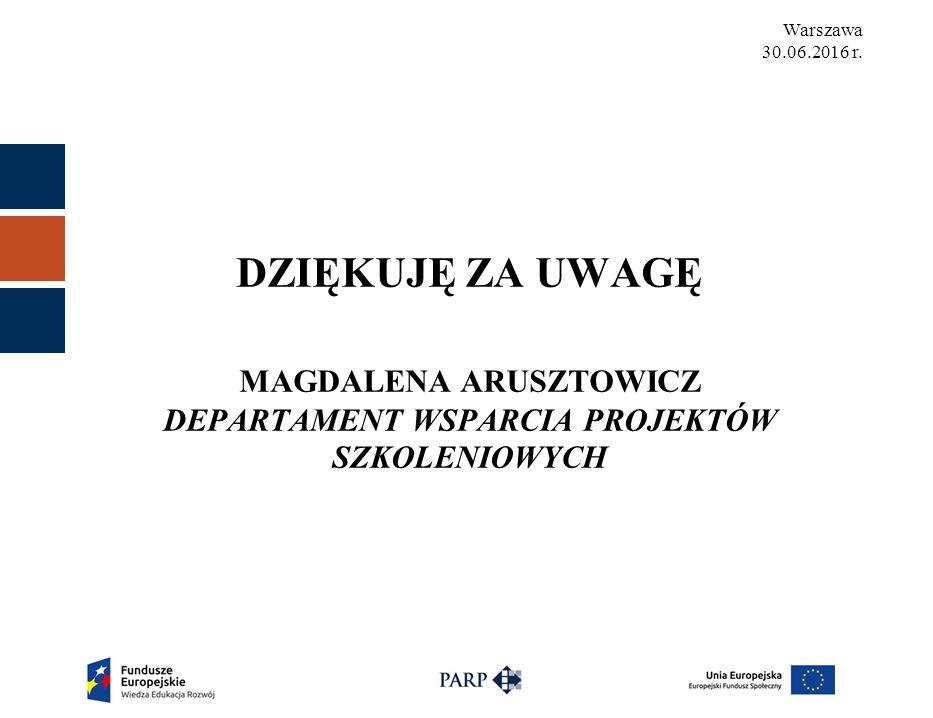 Warszawa 30.06.2016 r.