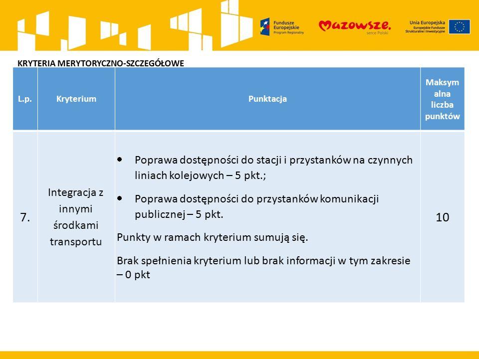 L.p.KryteriumPunktacja Maksym alna liczba punktów 7.