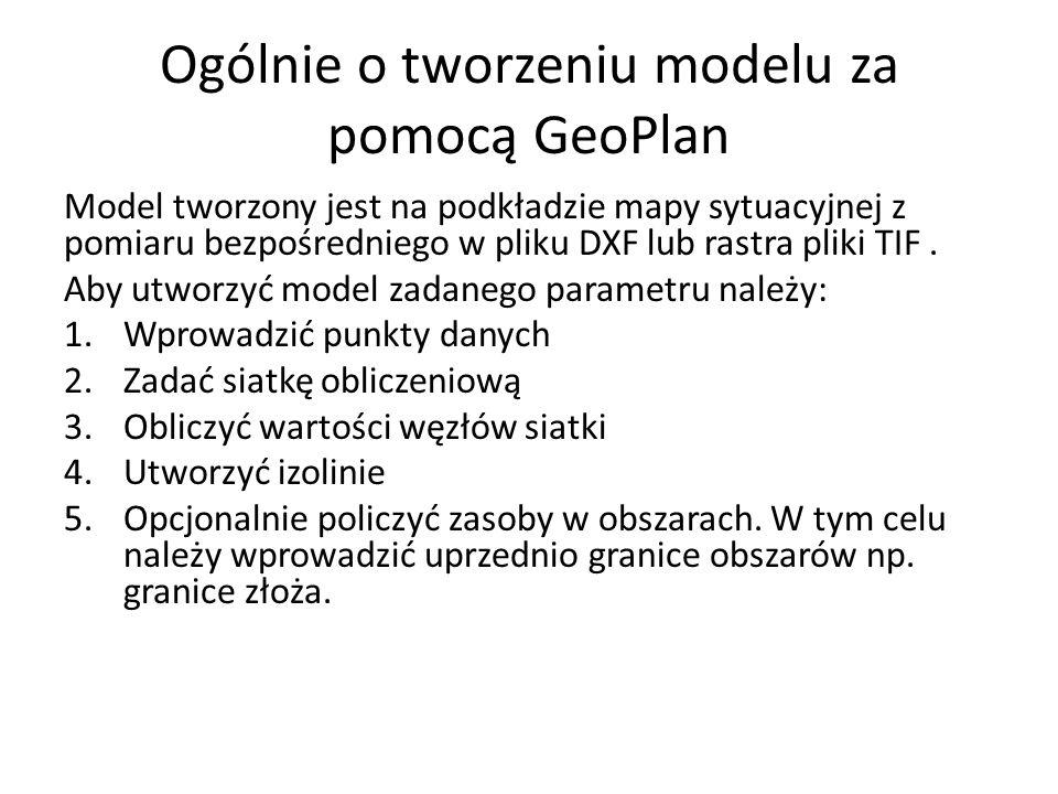Ogólnie o tworzeniu modelu za pomocą GeoPlan Model tworzony jest na podkładzie mapy sytuacyjnej z pomiaru bezpośredniego w pliku DXF lub rastra pliki TIF.
